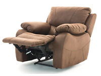 Single Seater Armchair Recliner Lazyboy (Hannah Fabric Suede effect)