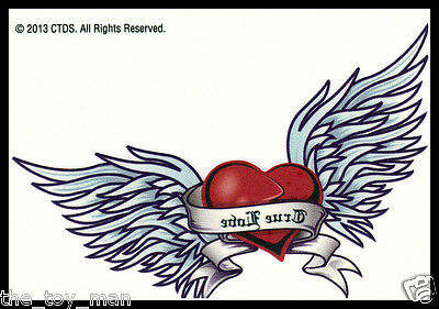 LOWER BACK TEMPORARY TATTOO~ANGEL WINGS WINGED HEART~
