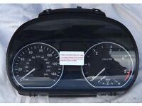 BMW 1 Series Dash Instrument Cluster Speedo Speedometer For Sale