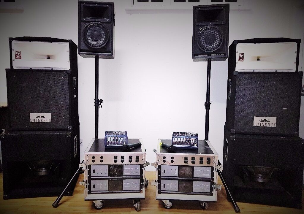 PA Sound System SPEAKERS DJ RENT HIRE EventsParties