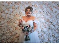 Flower Wall Rental & Wedding Photography