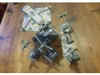 Star Wars X wing miniatures.