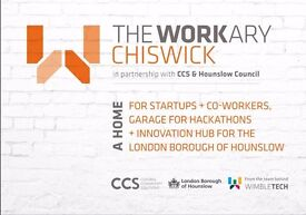Join The Workary Chiswick this Winter - hot & fixed desks - meeting rooms, kitchen facilities *£65pm