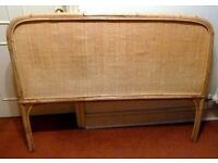 BAMBOO and WOVEN BED HEADBOARD