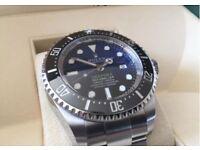 Rolex Deepsea Sea-Dweller D Blue Black Blue James Cameron 44mm Stainless 126660 Watch
