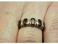 5 stone garnet ring