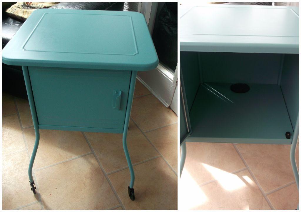 Finest Ikea Vettre Turquoise Metal Bedside table on castors | in Hebburn  LC09