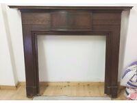 Traditional Hardwood Fireplace Surround