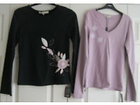 Ladies T-shirt tops from sleeveless to long sleeved, sizes 10 – 18, some NEW. 75p - £2.50 each