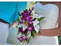 £70 Zeta Romantica, Swarovski Beaded, Ivory Wedding Dress Size 10-12 US Size 14,