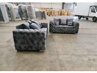 Free Delivery! Brand New Chesterfield 3+2 Sofa Set - Fastest Delivery
