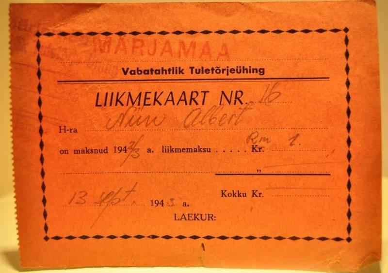 1943 Estonia in USSR Voluntary Fire Fighting Membership