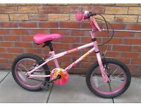 16IN PINK BIKE AS NEW