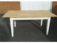 Rustic oak dining table £70