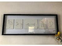 "Picasso drawing ""Animals"" in a frame (probably not original)"