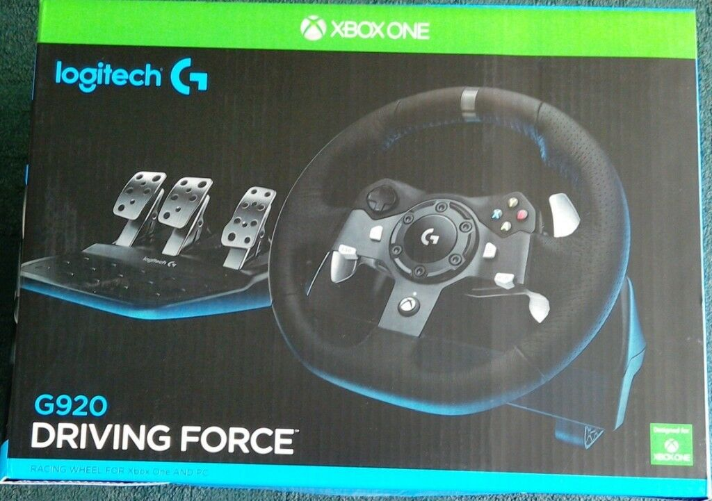 24ee7f3c974 NEW&SEALED LOGITECH Driving Force G920 Xbox One & PC Racing Wheel & Pedals  Black