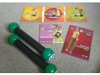 Zumba Home Fitness DVD Pack - 4 DVD Discs Perfect Condition - Comes with Toning Sticks