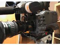 Panasonic hpx500 +canon lens 17x7,7 2x