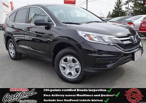 2015 Honda CR-V LX. Back up Camera, Heated Seats, One Owner !!