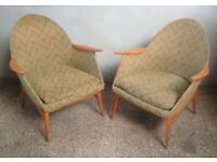 Pair of CHAIRS Vintage Hall ARM MID-CENTURY German 1950s Iconic Furniture Seats