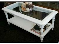 white Shabby Chic Rare French Designer Coffee Table Antique Ornate