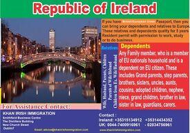 Ireland Visa EU Dependent Surinder Singh Route Khan Irish Immigration Services