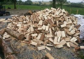 seasoned dry firewood logs 2xbulk bags 1000kg