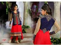 Indian/Asian Anarkali style long semi stitched designer wear.brand new.only few left.clearance.