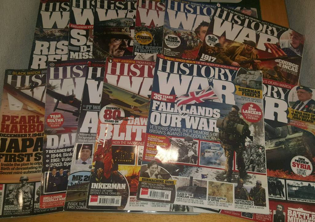 History of War Magazinesin Horley, SurreyGumtree - History of War MagazinesIssue numbers 31 43 (Unfortunately missing 35)Pre owned and read once.In excellent perfect condition so as new.Purchased individually for £4.99 each and happy to sell as job lot for £20 onoCollection from nr Gatwick but...