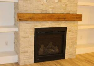 Barn Beam or Other Solid  Wood Fireplace Mantels - Ship Across Canada