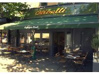 Waiting Staff Vacancies in Italian Restaurant East Dulwich