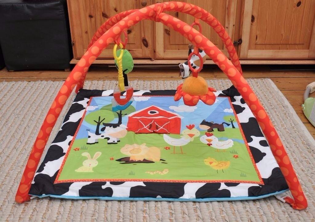 RED KITE farm yard gym baby play mat boy girl