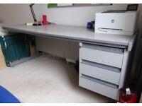 Large grey desk