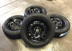 "16"" Steel Wheels 5x112 and Winter Tires 205/55R16 (Volkswagen Golf, Jetta) Calgary Alberta Preview"