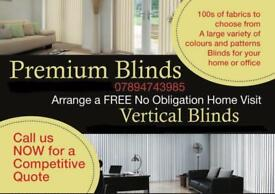 Cheap vertical blinds made to measure, supplied & fitted
