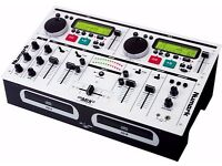 Numark CD player / mixer combo (CD MIX 2) + Flight Case