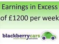MINICAB PCO OWNER DRIVERS - START TOMORROW!! ** AIRPORT CIRCUIT ** FULL-TIME, PART-TIME, WEEKENDS