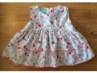 Monsoon Baby Girls Summer Poker Dot Dress 12 - 18 months