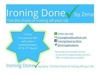 Professional ironing service with a simple price structure inc High Lane, Marple, Disley, High Peak,