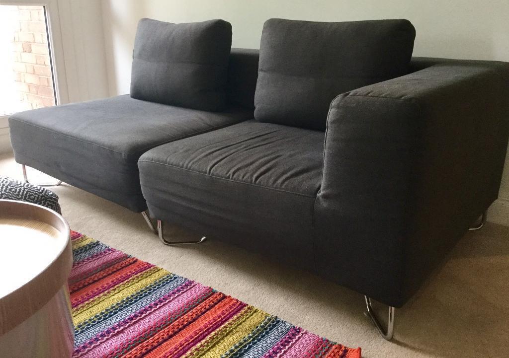 Muji Dark Grey Modular Sofa Units