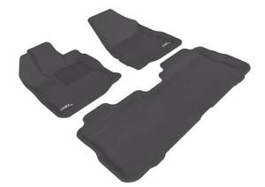 3D MAXpider Complete Set Custom Fit All-Weather Floor Mat for Select Chevrolet Equinox/GMC Terrain Models - Kagu Rubber