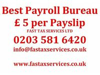 Best Payroll Bureau Services for just £5 per payslip.