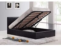 SUPER SALE KING SIZE 5FT LEATHER STORAGE BED WITH ROYAL SUPREME FULL ORTHOPEDIC MATTRESS -SAME DAY