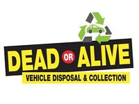 DEAD OR ALIVE SCRAP CARS AND VANS WANTED FOR CASH