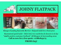 Flatpack Johny Glasgow's Leading Assembly Service - same day build from £25