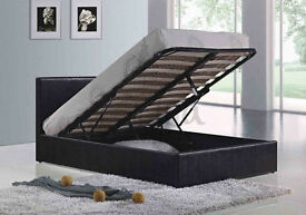 *30-DAYS MONEY BACK GUARANTEE* DOUBLE/SMALL DOUBLE LEATHER OTTOMAN STORAGE BED FRAME WITH MATTRESSES