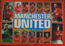 Manchester United and Liverpool Football Club 1996 FA Cup Final double sided Poster