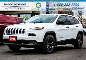 2016 Jeep Cherokee SPORT | 4X4 | COLD WEATHER | UPGRADED WHEELS