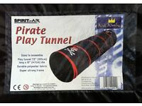PIRATE PLAY TUNNEL ( SPIRIT OF THE AIR ) NEW, UNUSED. - bargain for just £ 8