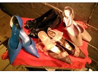 UNUSED Set of 4 Pairs of Dress Shoes/Heels Size 5/6